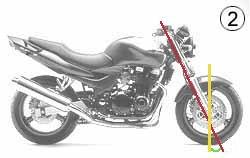 Angle chasse moto